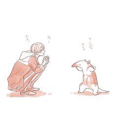 「動物と一期一振」/「ぷっけ」のイラスト [pixiv]