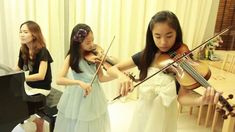 Let It Go (Frozen) cover - 2 Violins & Piano - Note(13)& Pin(9) & Mom (โ...