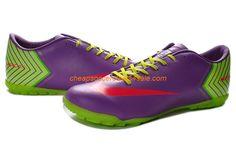 Nike Mercurial Vapor X TF Fluorescente Verde Violeta 76c9bdb32e
