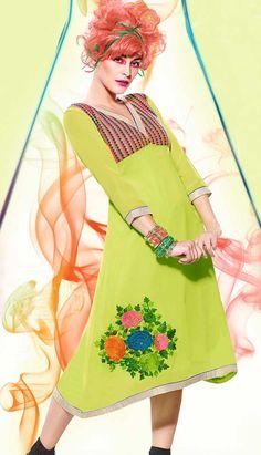 Latest Kurti, Green Dress, Bollywood, Cover Up, High Neck Dress, Princess Zelda, Lady, Dresses, Beautiful