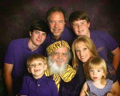 Rick Pastorek and Family with LSU Santa