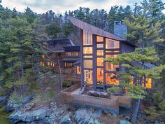 Outdoor Spa, Outdoor Living, Unique Properties For Sale, Granite Fireplace, Whole House Fan, Side Deck, Mansions For Sale, Expensive Houses, New Hampshire