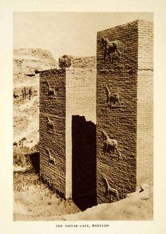 1938 Rotogravure Ishtar Gate, Babylon