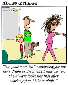 Cartoon: My nurse looks like a zombie