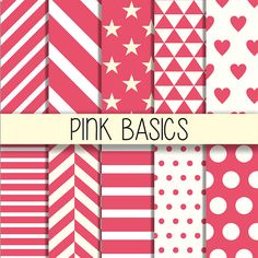 Pink patterns  Printable background Instant by babushkadesign