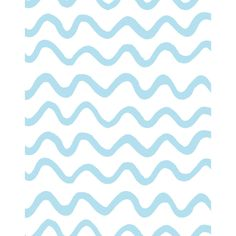 Tea Collection Aegean Waves Removable Wallpaper, Baby Blue - WallShoppe Mirrors & Wall Decor | Maisonette