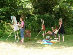 schilderworkshop bij de groepsaccommodatie de Eik