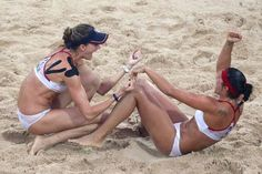 Misty May-Treanor   & Kerri Walsh - Beach Volleyball - Beijing Olympics 2008 - Womens Competition
