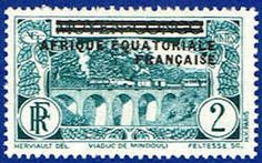 French Equatorial Africa 12 Stamp - Middle Congo Stamp - AF FEA 12-1 MH