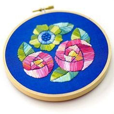Satin Stitch Flower Hand Embroidery   Impeccable Hand Embroidery Designs   Sewing Tips, Ideas, And Guide