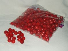 Marbles Glass Red 250 pcs Great for Crafts by WMCraftSupplies