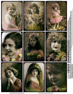 Child of Mine - Digital Collage Sheet - 2.5x3.5 ATC Tag Size 011