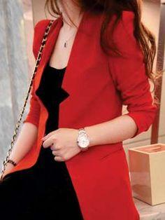 Blazer | Fiery Red Blazer | Semi Formal Blazer | Red | Fashion Clothing | Style Fiesta