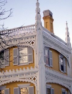 "The ""Wedding Cake House"" is a showpiece of Victorian ..."
