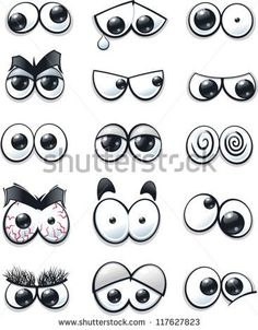 Cartoon faces with various expressions, vector illustration - Stock Vector from…
