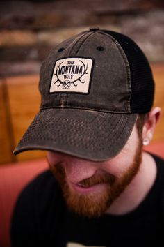 The Logo Waxed Twill Hat in Black