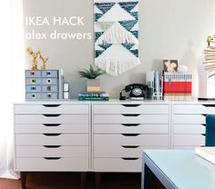 IKEA hack - alex upgrade. Add furniture legs to your Alex drawer units