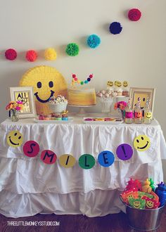 Smiley Face Party by Three Little Monkeys Studio