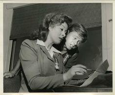 Greer Garson and Mickey Rooney, U.S.O. photograph