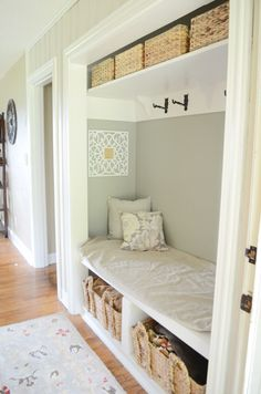 Entry Closet converted into a mudroom