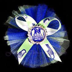 Seattle Seahawks NFC West Champions Tulle by FavoriteThingsBows, $3.99