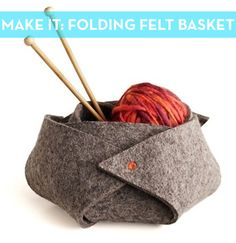 How to: Make a No-Sew Felt Storage Basket