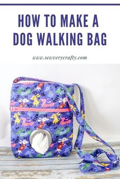This dog walking bag has space for plastic bags, treats and a leash. The bags are easily accessible through the hole in the front. This is a simple sewing project that anyone can make using basic sewing skills so give it a try. Basic Sewing, Sewing Basics, Dog Treat Pouch, Beaded Dog Collar, Collar Choker, Cute Dog Collars, Sewing Projects For Kids, Craft Projects, Craft Ideas