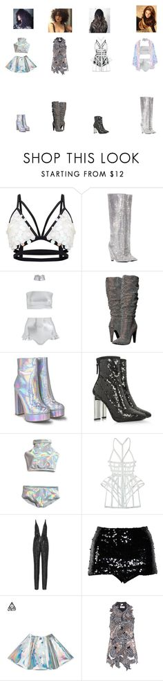 """#98"" by whattowearxx ❤ liked on Polyvore featuring Yves Saint Laurent, F, Steve Madden, Nasty Gal, Giuseppe Zanotti, CHROMAT, Naeem Khan, Chanel, Sonia Rykiel and B~Glittz"
