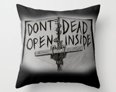 The Walking Dead - Don't Open Dead Inside Cushion Throw Pillow Various Sizes