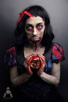 31 Days Of Halloween Zombie Snow White by Amanda Chapman https://www.facebook.com/amandachapmanphotography