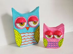 Paper Mache Owls Tutorial by maria mercedes   Colo...