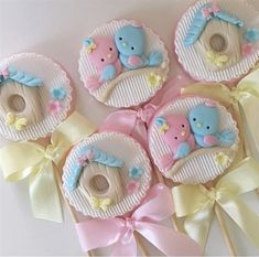Trendy Ideas For Cupcakes Baby Shower Bebe Fondant Toppers Cookies Cupcake, Animal Cupcakes, Easter Cookies, Royal Icing Cookies, Gateau Baby Shower, Baby Shower Cakes, Baby Cakes, Fondant Toppers, Gentilly Cake Recipe