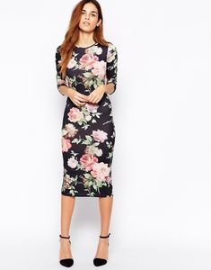 Club L Floral Midi Dress, $25 | 61 Pretty Spring Dresses Under $50 That Are Worth Shaving Your Legs For