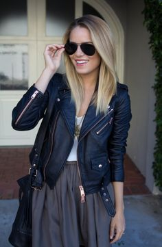 My love for leather jackets is never ending.