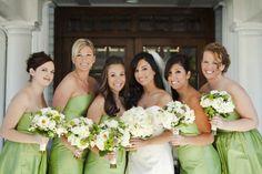 Damas de Honor en Verde -- Fotografía: Ambiance Chic