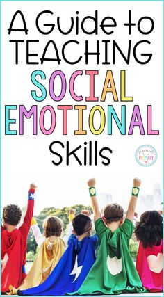 A teacher's guide to teaching social emotional skills in the classroom. This guide has articles, children's book suggestions, videos, and a program filled with lessons and activities to use with kids. Helps with classroom management and creates a happy classroom environment! #socialemotionallearning #socialskills #sel #socialresponsibility #childrensbooks #activitiesforkids #charactereducation #growthmindset #classroommanagement