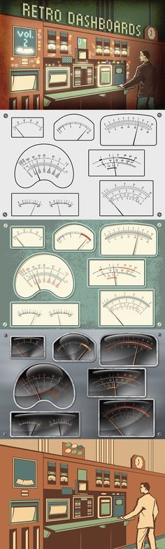 Retro Dashboards vol.2. Objects. $16.00