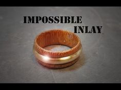 Wooden ring with brass inlay / Puinen sormus messinkiupotuksella - Anello in legno con inserto in ottone