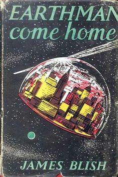 Sci-Fi retro futurist magazine cover
