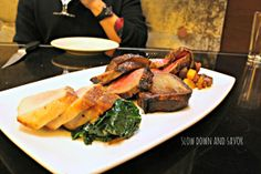 Love fine dining establishment Finn & Porter located inside the E. 4th St. Hilton Austin! SO good! -- Trio of beef