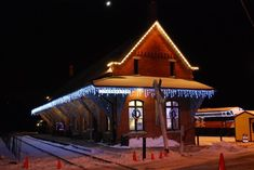 The Railroad Museum of New England, or Thomaston Station, springs to life in the winter.