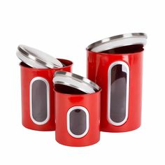 Thrich Airtight Multi-purpose Kitchen Canisters with Fingerprint Resistance Stainless Steel Lid Kitchen Canister Sets, Storage Canisters, Airtight Food Storage Containers, Finishing Materials, Cool Kitchens, Household, Kitchen Appliances, Stainless Steel, Purpose