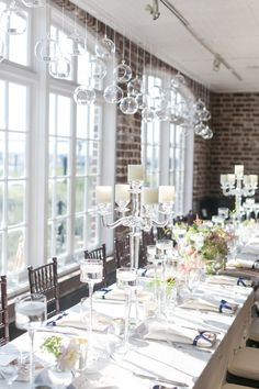 Yoj Events put together this lovely table setting at the Historic Rice Mill   © Dana Cubbage Weddings 2013