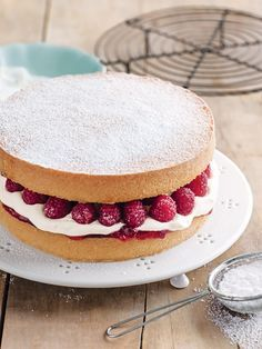 jam and cream sponge cake from donna hay