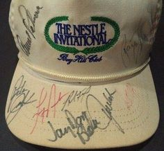 Payne Stewart  Arnold Palmer Golf Legends Signed Bayhill Club Hat Loa Rare  JSA Certified  Autographed Golf Equipment ** Details can be found by clicking on the image. (Note:Amazon affiliate link)