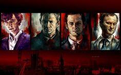 """Художница-фанатка сериала """"Шерлок"""" нарисовала картины любимым героям (18 портретов)"""