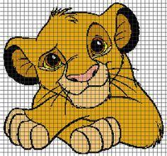 The Lion King - Little Simba Crochet Graphghan Pattern (Chart/Graph AND Row-by-Row Written Instructions) 1 Simba Bebe, Simba Y Nala, Roi Lion Simba, Graph Crochet, Crochet Lion, Cross Stitch Love, Beaded Cross Stitch, Knitting Charts, Baby Knitting