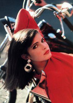 Stephanie Seymour Arthur Elgort for Mademoiselle magazine, August 1986. Model: Stephanie Seymour.