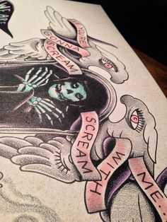 hybrid moment is my favorite misfits song Time Tattoos, New Tattoos, I Tattoo, Tatoos, Traditional Tattoo Flash, Traditional Art, Misfits Tattoo, Danzig, Parlour