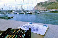 Zeichnen auf La Palma Kreativreisen